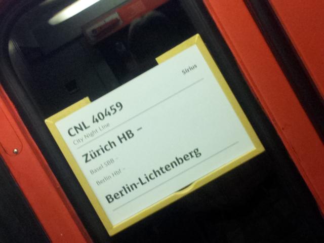 Zürich HB - Berlin-Lichtenberg